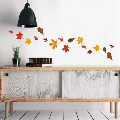 Wandsticker Blätter Set Herbst 2