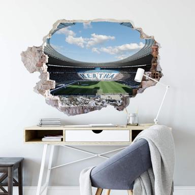 3D Wandtattoo Hertha Stadion bei Tag