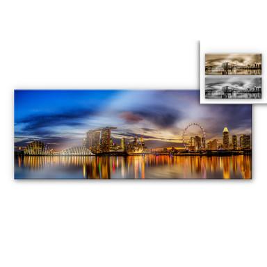 Acrylglasbild Xie - Lights in London - Panorama