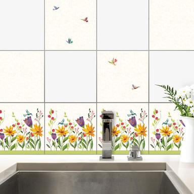 Fliesenaufkleber Blanz - Blütenpoesie