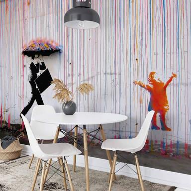 Fototapete Banksy - Coloured Rain