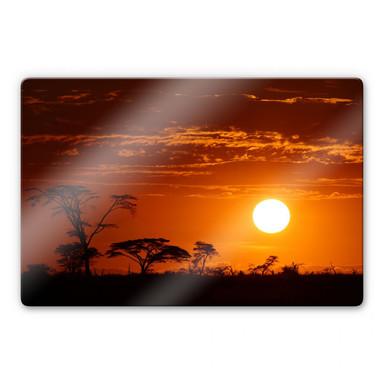 Glasbild Afrikanische Steppe