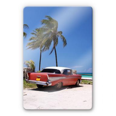 Glasbild Cuba Cabrio