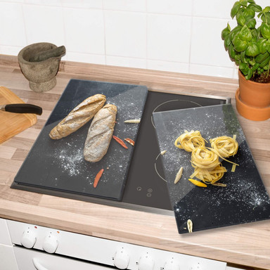 Herdabdeckplatte - Bread and Pasta