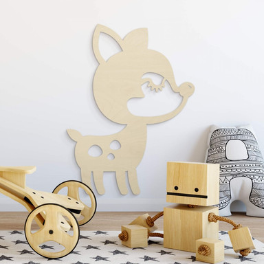 Holzdeko Pappel - Tier - Reh
