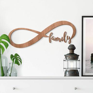 Holzkunst - Unendlich Family - Mahagoni