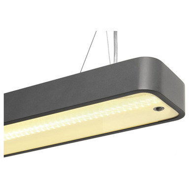 LED Pendelleuchte Worklight Plus 48W 3000K 3600lm in Schwarz