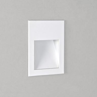 LED Wandeinbauleuchte Borgo in Weiss 1W 30lm 70x54mm 2700K
