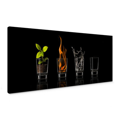 Leinwandbild Frutos Vargas - The Four Elements - Panorama