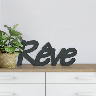 MDF-Holzbuchstaben Rêve