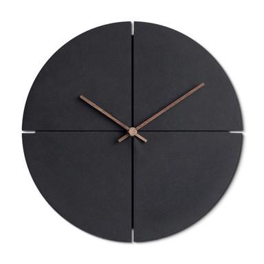 Moderne MDF Wanduhr schwarz Holzzeiger Ø29cm