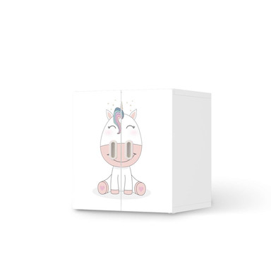 Möbelfolie IKEA Stuva / Fritids Schrank - 2 kleine Türen - Baby Unicorn