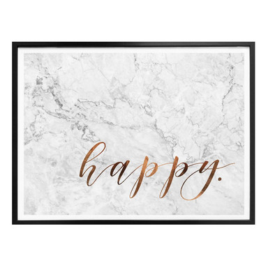 Poster Kupferoptik - Happy