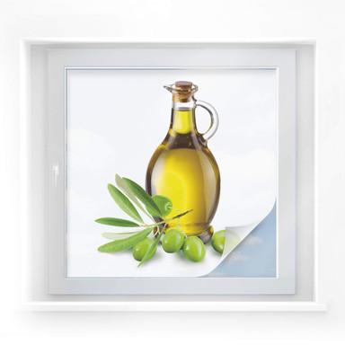 Sichtschutzfolie Olivs and a Bottle - quadratisch