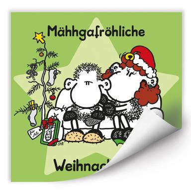Wallprint sheepworld Mähhgafröhliche Weihnachten!