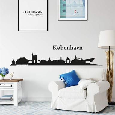 Wandtattoo Kopenhagen Skyline