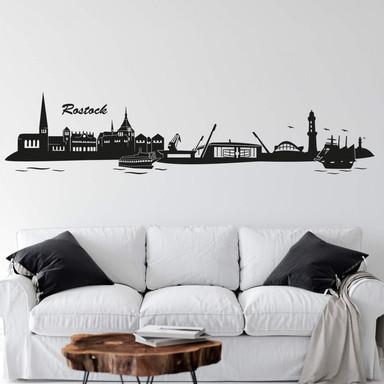 Wandtattoo Rostock Skyline 2