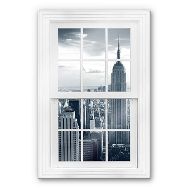 Glasbild 3D Fenster - The Empire State Building