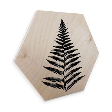 Hexagon - Holz Birke-Furnier - Farn