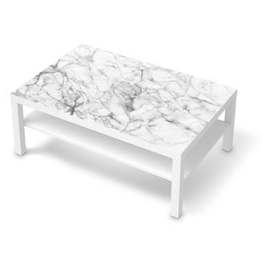 Klebefolie IKEA Lack Tisch 118x78cm - Marmor weiss- Bild 1