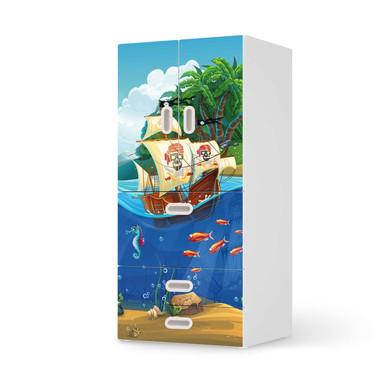 Möbelfolie IKEA Stuva / Fritids - 3 Schubladen und 2 kleinen Türen - Pirates