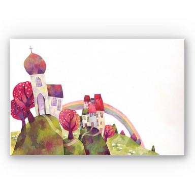 Wandbild Blanz - Die Dorfkirche
