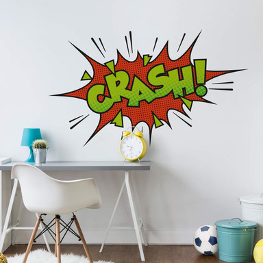Wandtattoo Comic Soundeffect - Crash