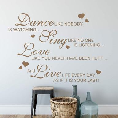 Wandtattoo Dance like nobody...