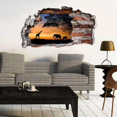 3D Wandtattoo African Sunset