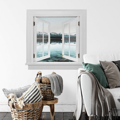 3D Wandtattoo Fenster quadratisch - Idylle