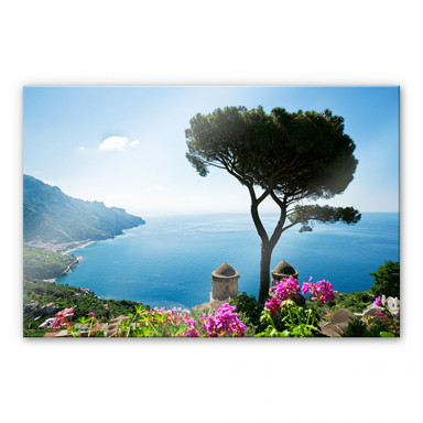 Acrylglasbild Blick auf die Amalfiküste