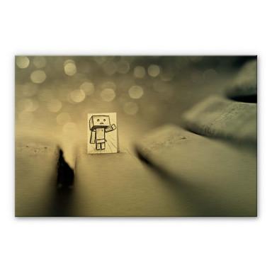 Alu-Dibond-Goldeffekt Heine - Sei mein Freund