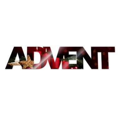 Dekobuchstaben Advent + 8 Klebepads