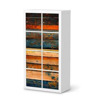 Folie IKEA Kallax Regal 8 Türen - Wooden- Bild 1