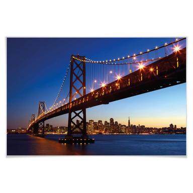 Giant Art® XXL-Poster San Francisco Skyline - 175x115cm - Bild 1