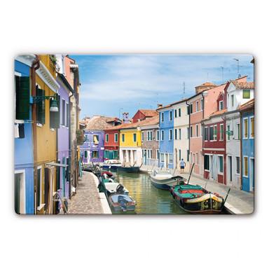 Glasbild Farbenfrohes Venedig