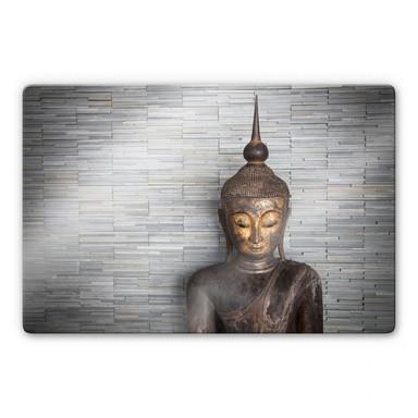 Glasbild Thailand Buddha