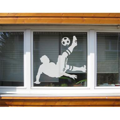 Glasdekor Fussball - Fallrückzieher