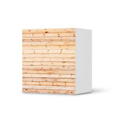 Klebefolie IKEA Besta Regal 1 Türe - Bright Planks