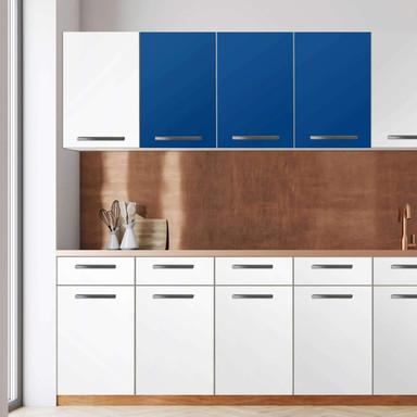 Klebefolie - Wandschrank 120cm Breite - Blau Dark