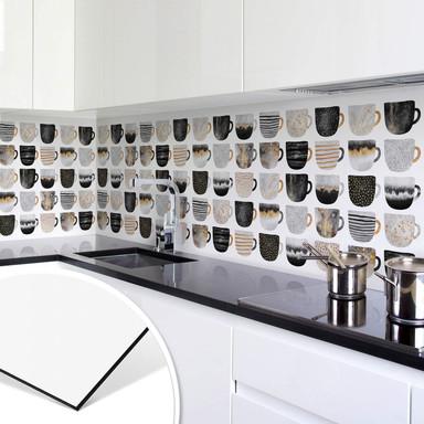 Küchenrückwand Fredriksson - Kaffeetassen: Pretty Black & Gold
