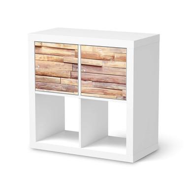 Möbel Klebefolie IKEA Expedit Regal 2 Türen (quer) - Artwood- Bild 1