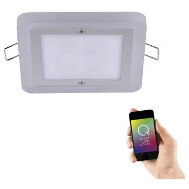 Q-Smart LED Einbaustrahler Q-Vidal RGBW in chrom eckig 100x100 mm