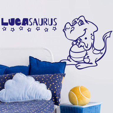 Wandtattoo Namen & Dinosaurus 01