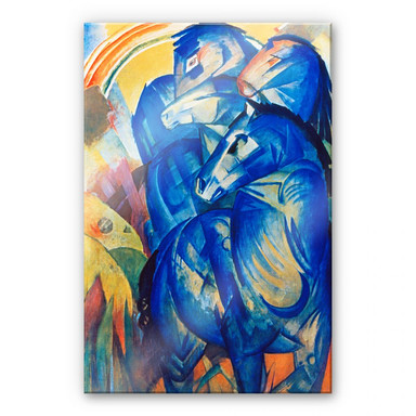 Acrylglasbild Marc - Turm der blauen Pferde