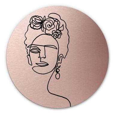 Alu-Dibond-Kupfereffekt Hariri - Frida-Kahlo - Rund