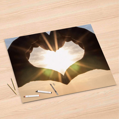 Folienbogen (120x80cm) - Sunny Heart