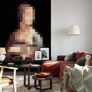 Fototapete Pixelart - da Vinci - Die Dame mit dem Hermelin - 192x260cm - Bild 1
