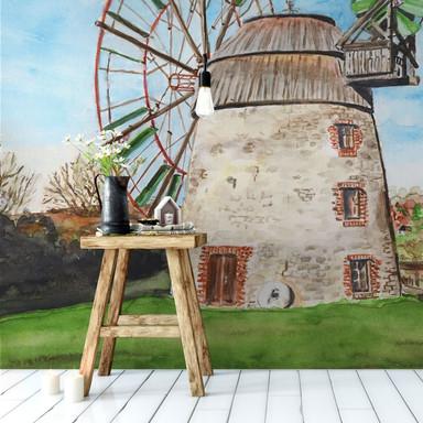 Fototapete Toetzke - Holländerwindmühle - 384x260cm - Bild 1