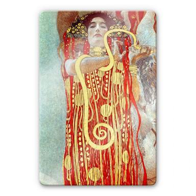 Glasbild Klimt - Hygieia